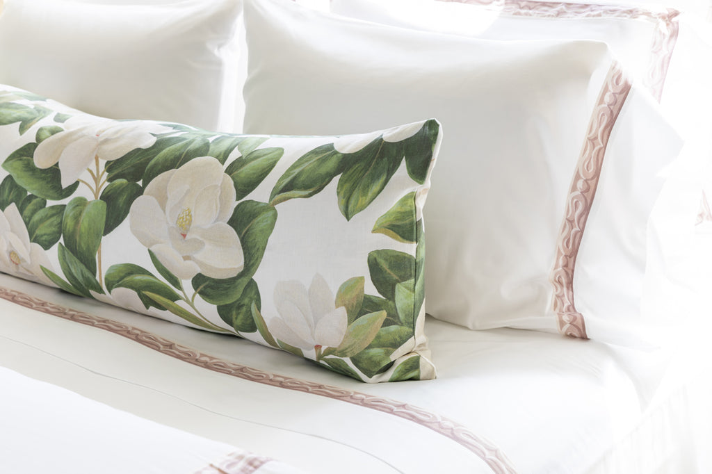 Tribute Goods Magnolia Bedding, Featured in Houston Chronicle