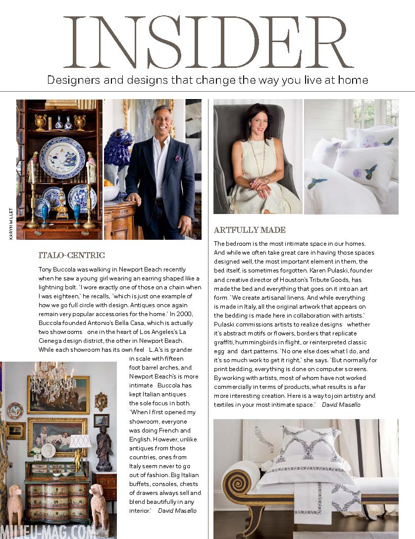 Milieu Fall 2021: Designers and designs that change the way you live at home. Karen Pulaski, Tribute Goods