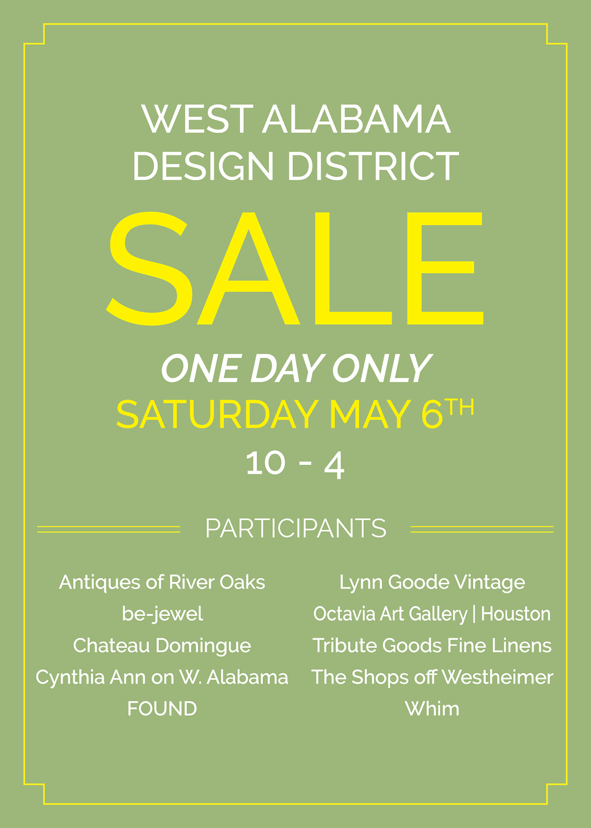 Houston West Alabama Design District Sale