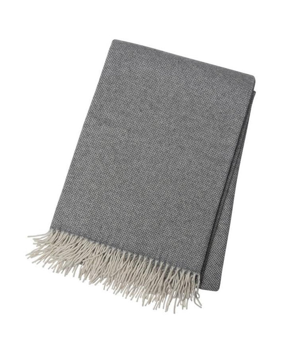 Grey & White Cashmere Throw - Tribute Goods