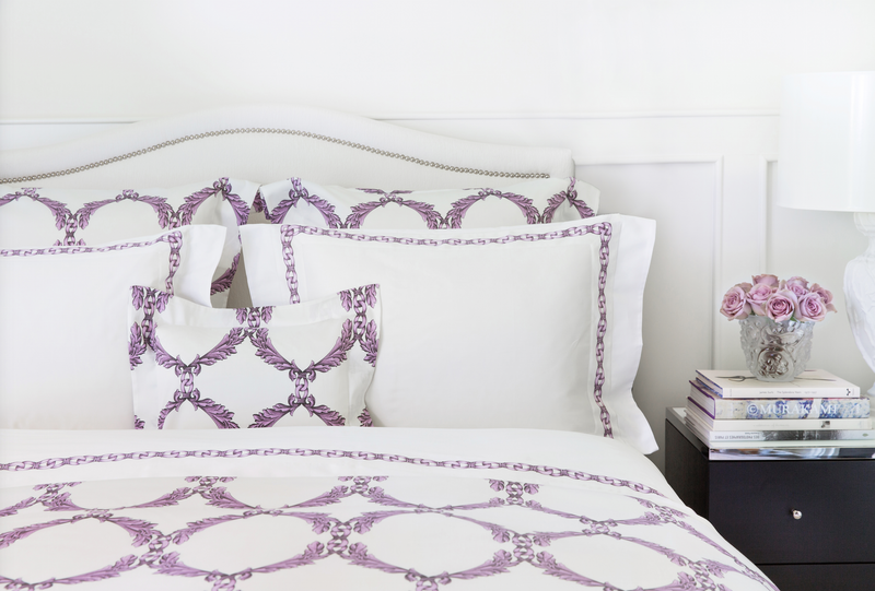 Acanthus Scroll Allover Pattern Boudoir Sham Lilac - Tribute Goods