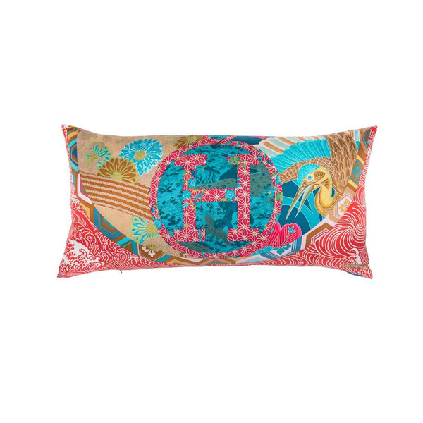 """Ex Libris En Kimonos"" Hermès Silk Scarf Pillow - Tribute Goods"