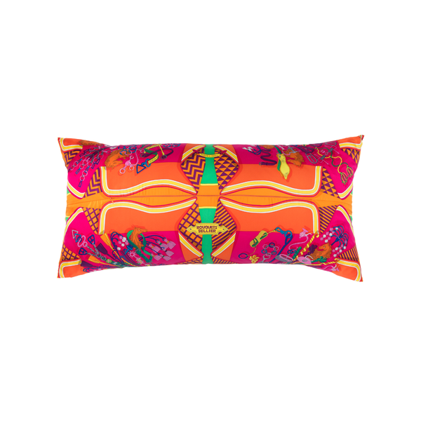 """Bouquets Sellier"" by Pierre Marie Silk Scarf Pillow - Tribute Goods"