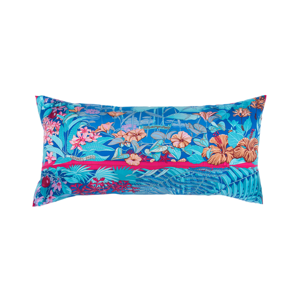 """Flamingo Party"" by Laurence Bourthoumieux Silk Scarf Pillow - Tribute Goods"