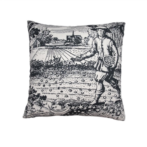 "Black & White ""Modern Toile"" Pillow I"