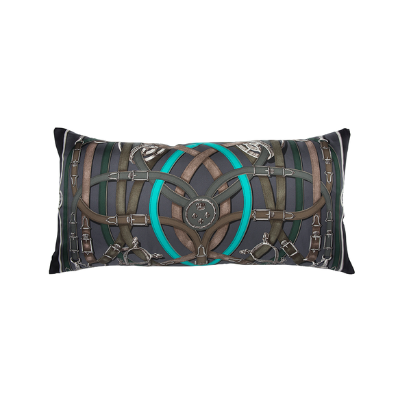 """Cavalcadour"" Silk Scarf Pillow - Tribute Goods"