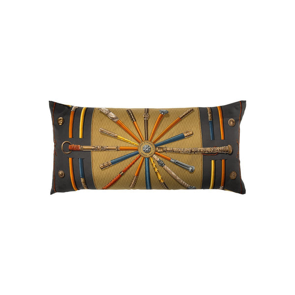 """Cannes et Pommeaux"" Hermès Silk Scarf Pillow - Tribute Goods"
