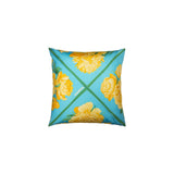 """Pivoines"" Vintage Hermes Silk Pillow - Tribute Goods"