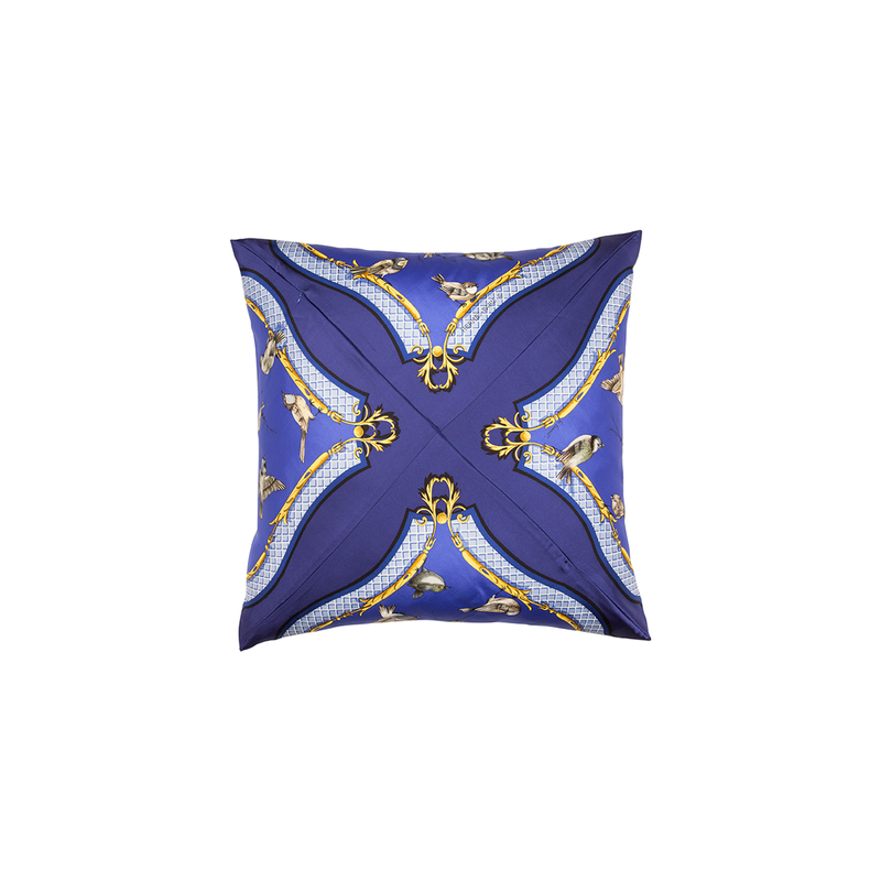 """La Clé des Champs"" Silk Scarf Pillow - Tribute Goods"