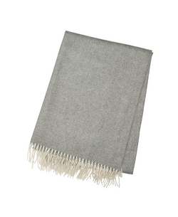 Medium Gray Cashmere Throw - Tribute Goods