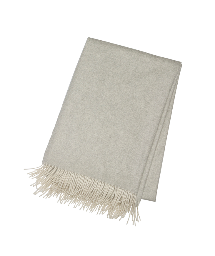 Pale Grey Cashmere Throw - Tribute Goods