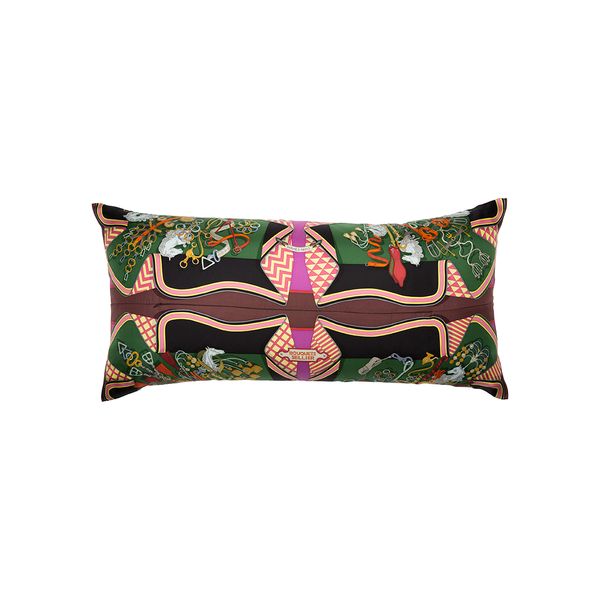 """Bouquets Sellier"" Silk Scarf Pillow - Tribute Goods"