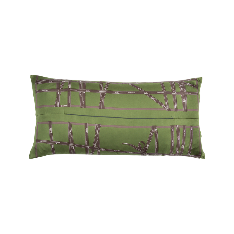 """Bolduc Ribbon"" Silk Scarf Pillow - Tribute Goods"