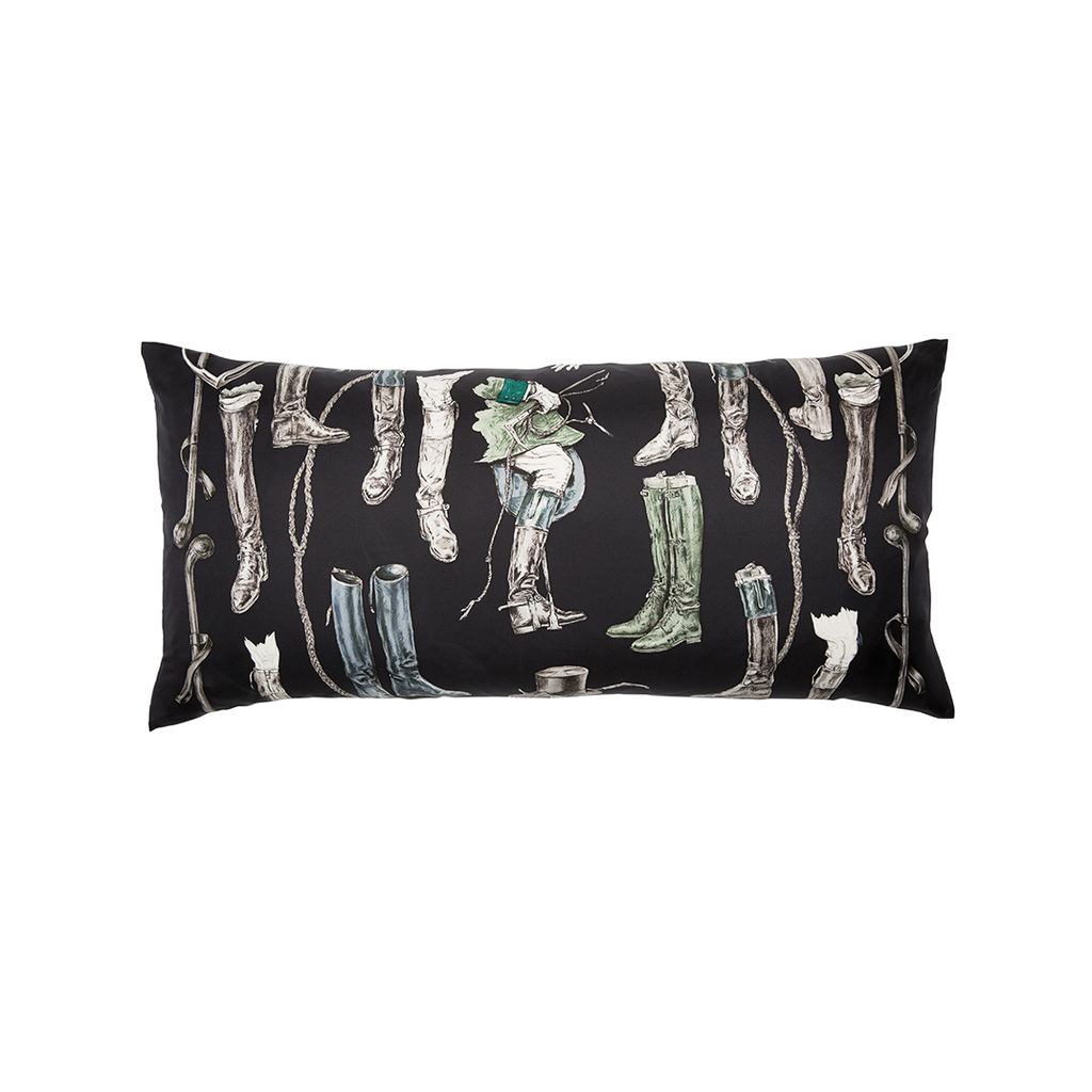 """A Propos de Bottes"" Silk Scarf Pillow - Tribute Goods"