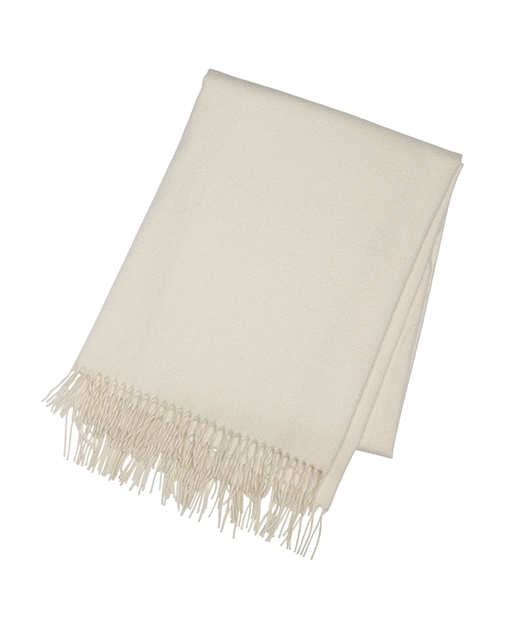 Ivory Cashmere Throw - Tribute Goods