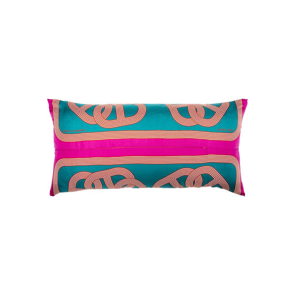 """Circuit 24 Faubourg"" Silk Scarf Pillow - Tribute Goods"