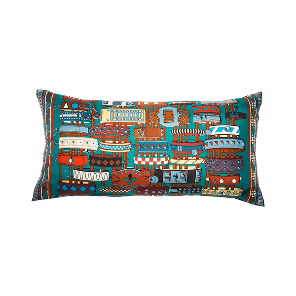 """Colliers De Chiens"" Silk Scarf Pillow - Tribute Goods"