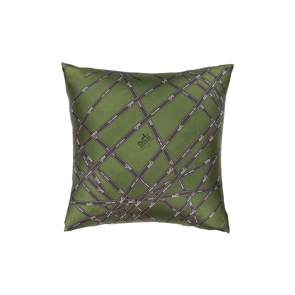 """Bolduc Ribbon"" Hermès Silk Pillows - Tribute Goods"