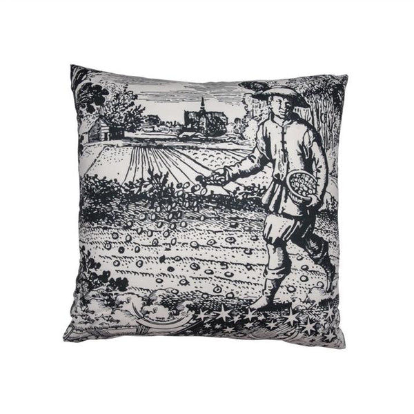 "Black & White ""Modern Toile"" Pillow II"