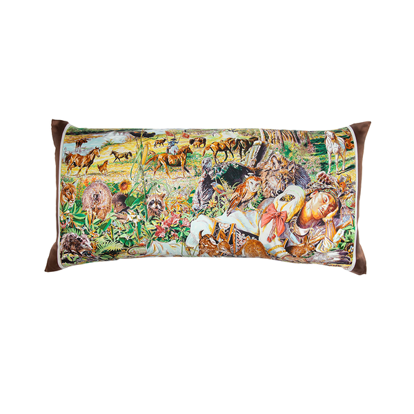 """Madison Avenue"" Hermès Silk Scarf Pillow"
