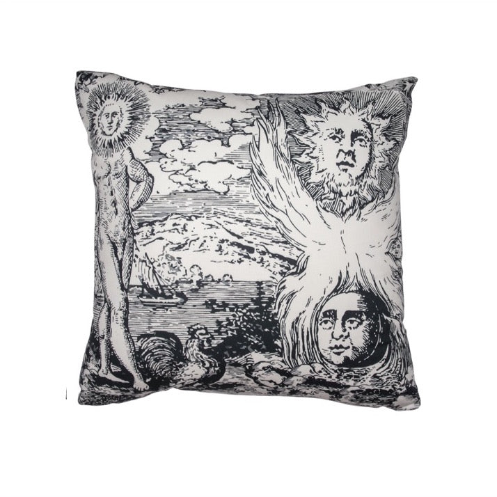 "Black & White ""Modern Toile"" Pillow III"