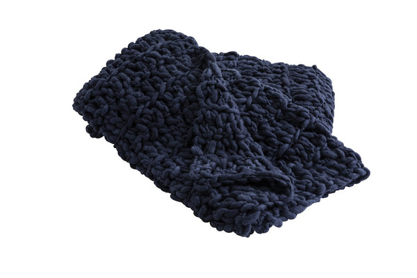 Large Navy Blanket