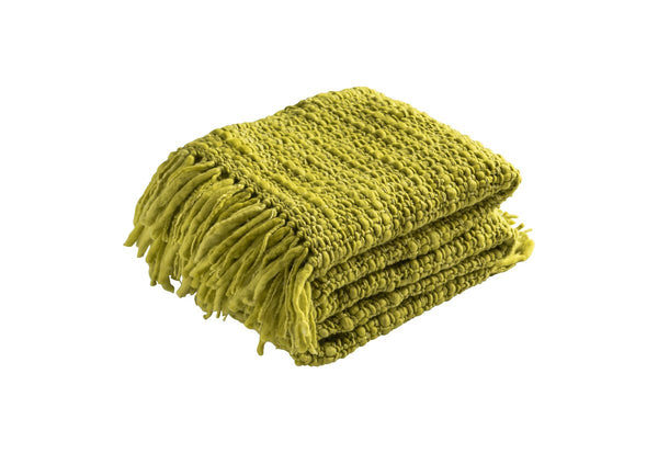 Medium Celery Blanket with Silk