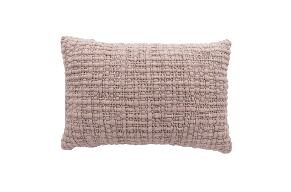 Rectangle Light Pink Pillow with Silk