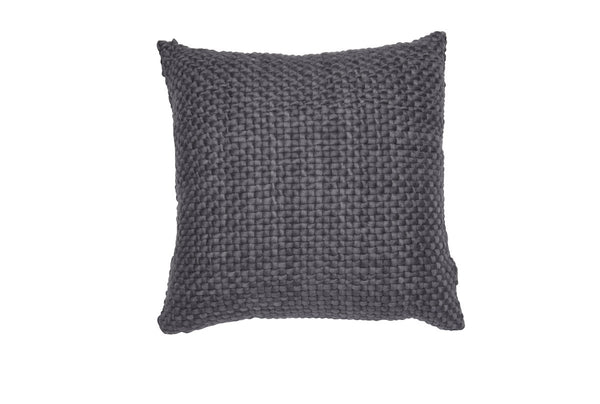 Square Charcoal Pillow with Silk