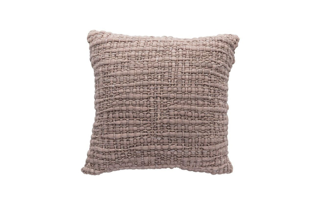 Square Light Pink Pillow with Silk