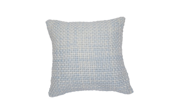 Square Light Blue Pillow