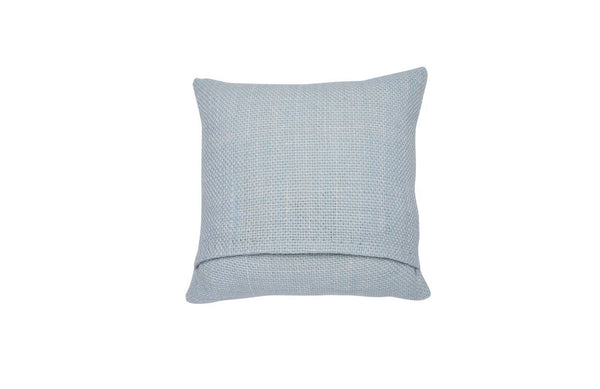 Small Square Light Blue Pillow