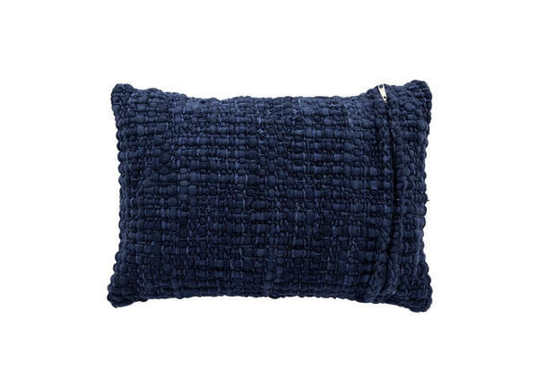 Rectangle Navy Pillow with Silk - Tribute Goods
