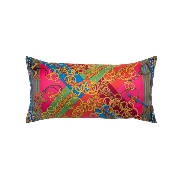 """Brides et Gris-Gris"" Hermès Silk Scarf Pillow - Tribute Goods"