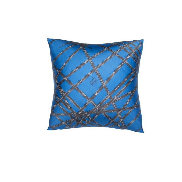 """Bolduc Ribbon"" Hermès Silk Scarf Pillow - Tribute Goods"