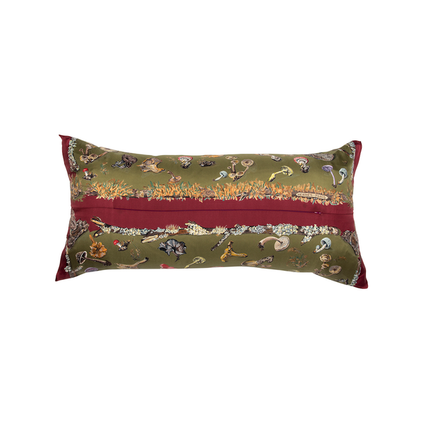 """Champignons"" Hermès Silk Scarf Pillow - Tribute Goods"