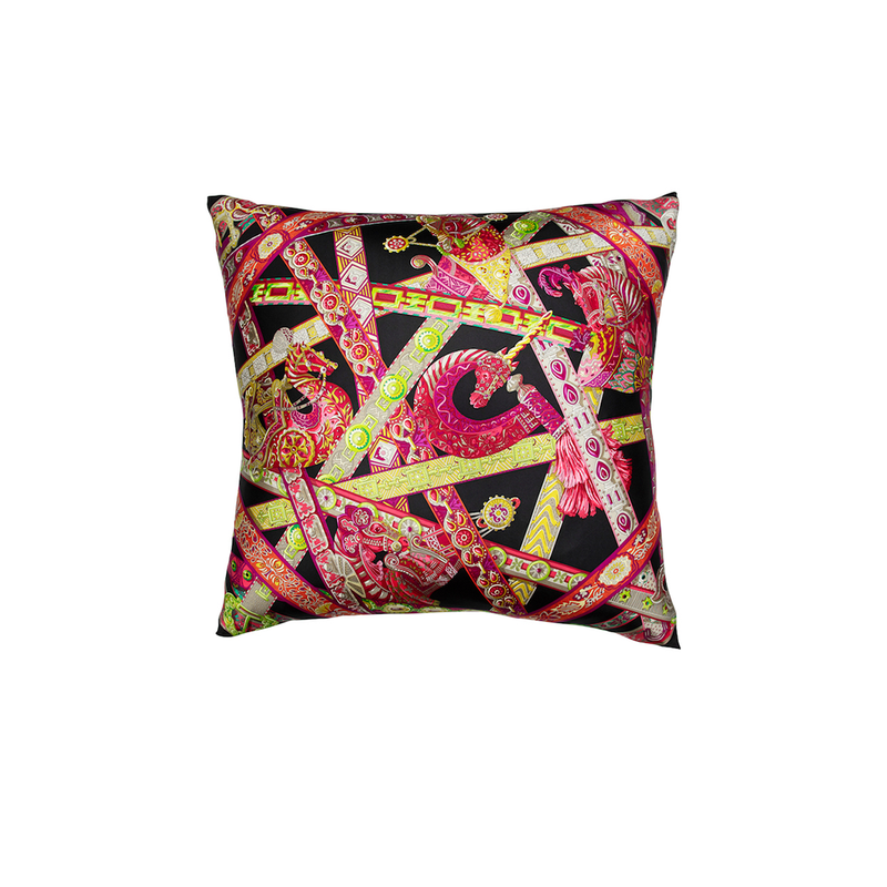 """Le Songe de La Licorne"" Hermès Silk Scarf Pillow - Tribute Goods"