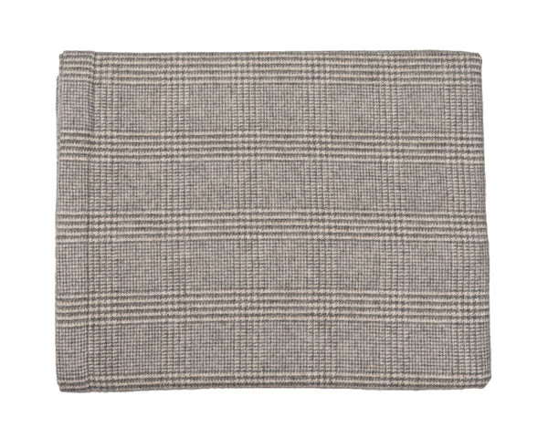 Grey Plaid Cashmere Blanket