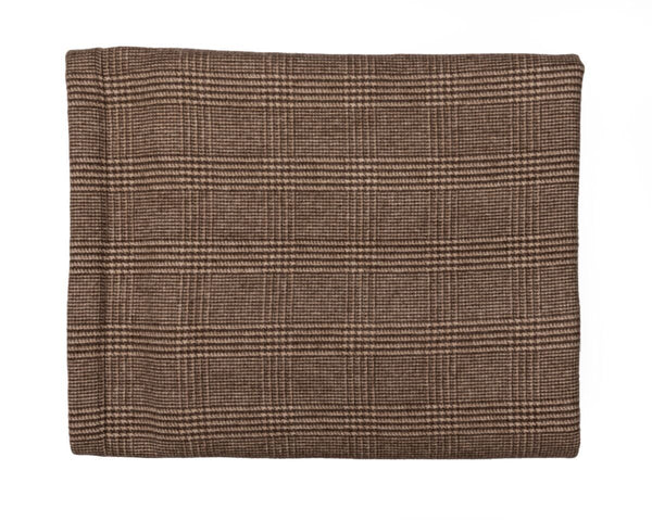 Brown Plaid Cashmere Blanket - Tribute Goods