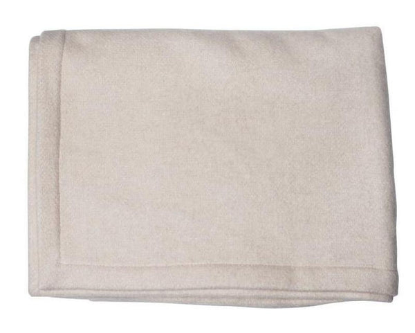 Oatmeal Cashmere & Silk Blanket - Tribute Goods