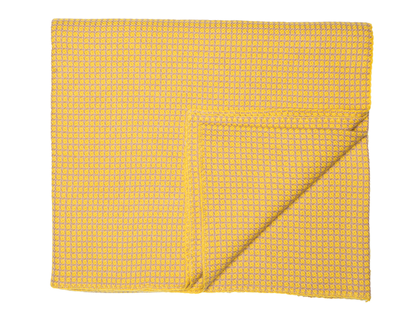 Taupe/Yellow Cashmere Blanket