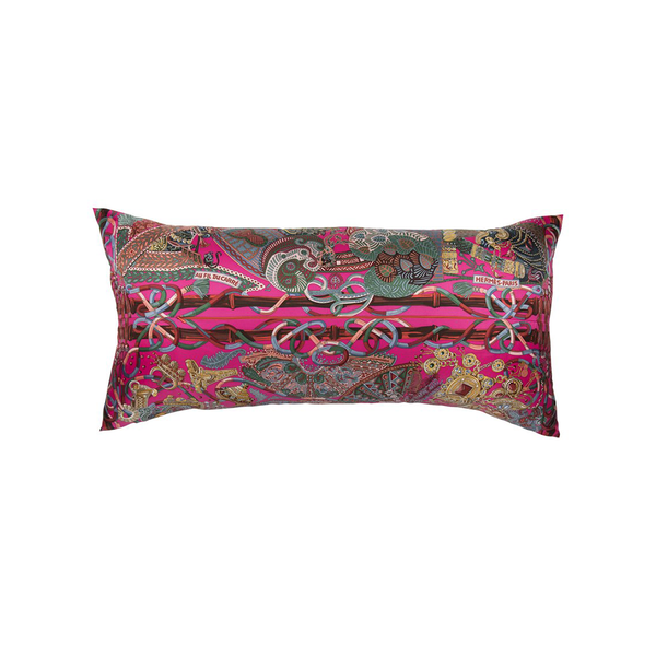 """Au Fil Du Carre"" Hermès Silk Scarf Pillow"