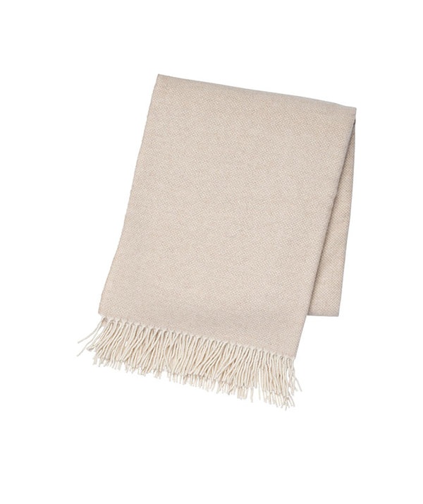 Beige & White Cashmere Throw