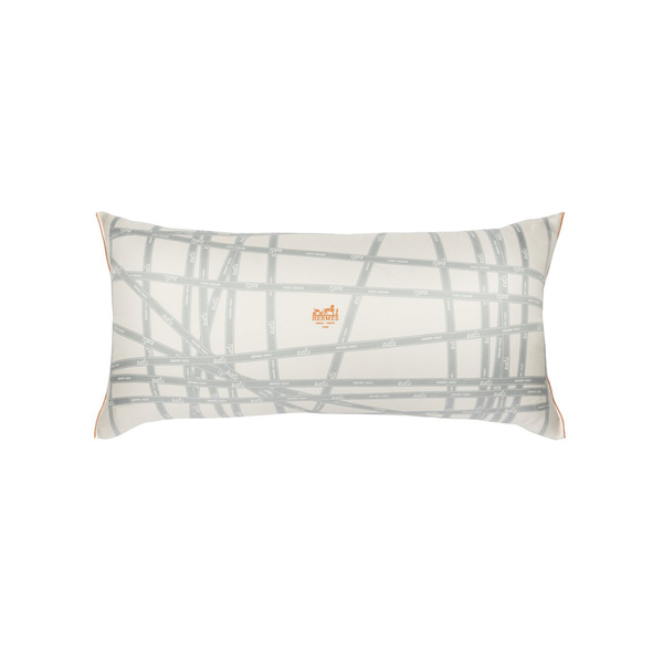 """Bolduc Ribbon"" Hermès Silk Scarf Pillow"