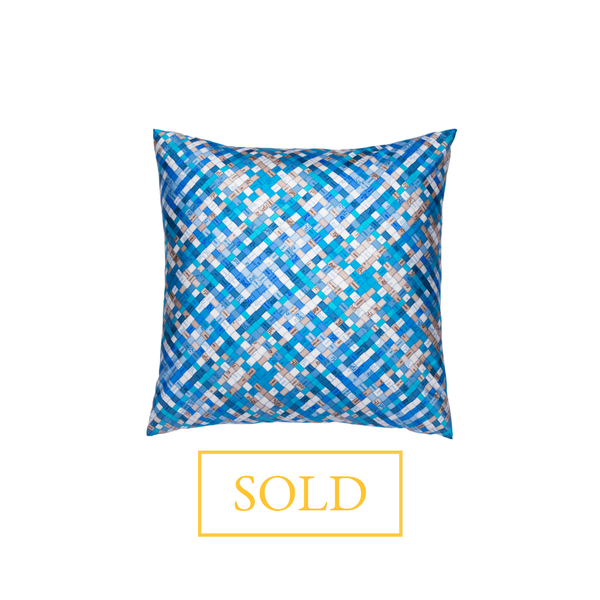"""Bolduc au Carre"" Hermès Silk Scarf Pillow - Tribute Goods"