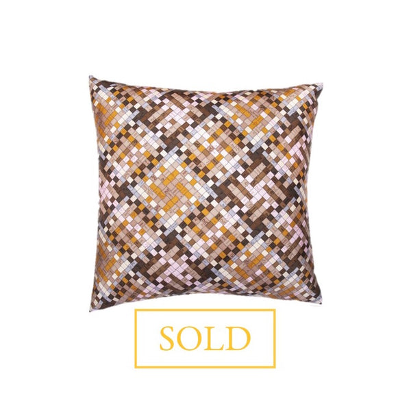 """Bolduc Au Carre"" Hermès Silk Scarf Pillow"