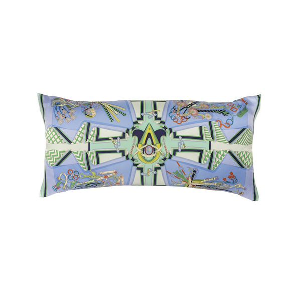 """Bouquets Selliers"" Hermès Silk Scarf Pillow"