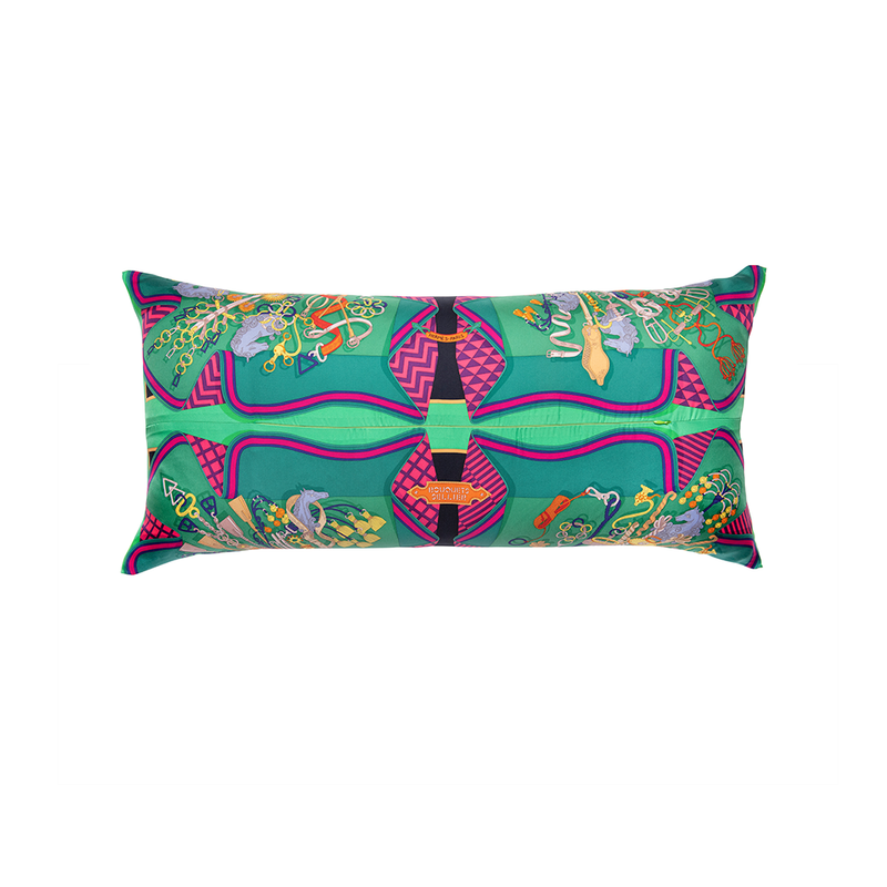 """Bouquets Sellier"" Hermès Silk Scarf Pillow"