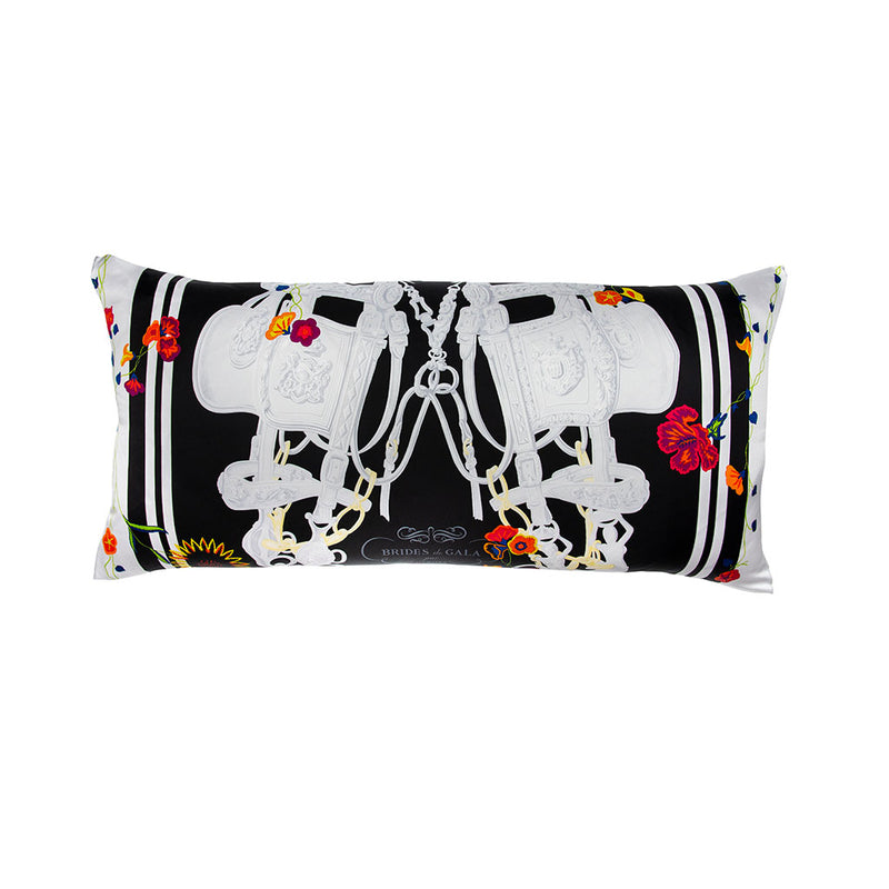 """Brides de Gala"" Hermès Silk Scarf Pillow"