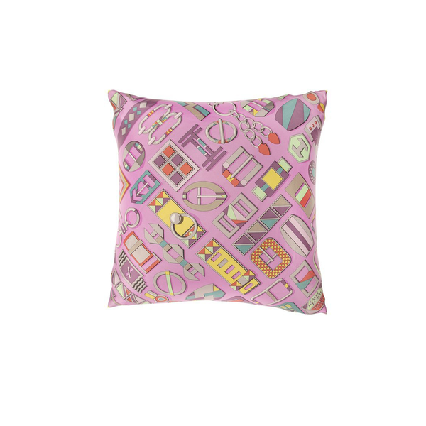"""Carre en Boucles"" Hermès Silk Scarf Pillow"
